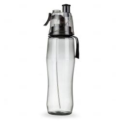 Squeeze Plástico com Borrifador Personalizada - 700ml Preto