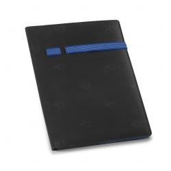 Pasta A4 em Microfibra e Poliéster Personalizada Azul