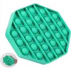 Fidget Pop It Toys - Bolhas Anti-Stress - Personalizado Octagono Verde