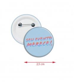 Botton Americanos personalizado 2,5 cm Azul Claro
