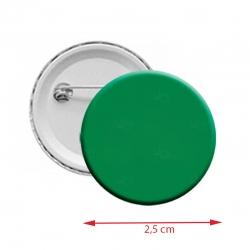 Botton Americanos personalizado 2,5 cm Verde