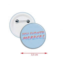 Botton Americano Personalizado 3,5 cm Azul Claro