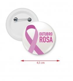 Botton Americano Personalizado 4,5 cm Rosa