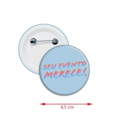 Botton Americano Personalizado 4,5 cm Azul Claro