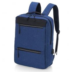 Mochila de Nylon Personalizada USB 21L Azul