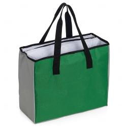 Sacola Personalizada Poliéster 25L com Bolso Térmico Verde