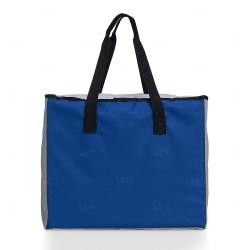 Sacola Personalizada Poliéster 25L com Bolso Térmico Azul