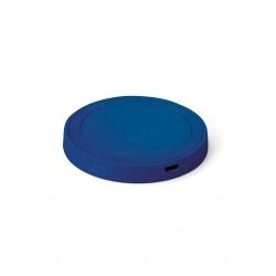Carregador personalizado wireless em ABS e silicone Azul