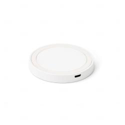 Carregador personalizado wireless em ABS e silicone Branco