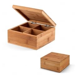 Caixa de chás personalizada em bambu