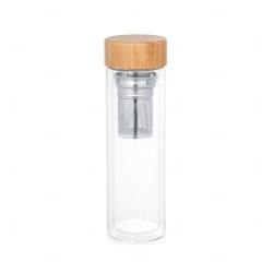 Garrafa  personalizada com infusores 490 ml Natural
