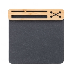 Mouse Pad Personalizado Ecológico Preto