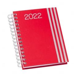 Agenda Personalizada Diária 2022 Wire-o Vermelho