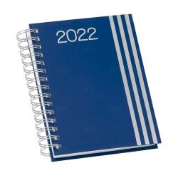 Agenda Personalizada Diária 2022 Wire-o Azul