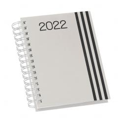 Agenda Personalizada Diária 2022 Wire-o Cinza Claro