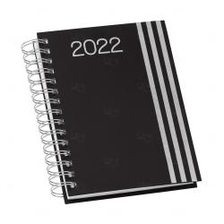Agenda Personalizada Diária 2022 Wire-o Preto