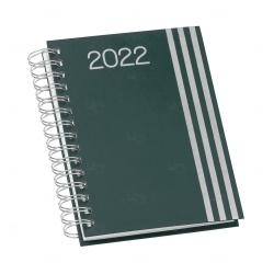 Agenda Personalizada Diária 2022 Wire-o Verde