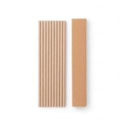Conjunto personalizado de 10 canudos em papel kraft Kraft