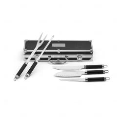 Kit personalizado para churrasco em estojo de alumínio