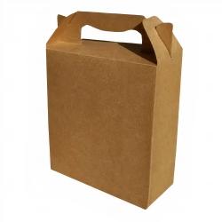 Caixa sacola personalizada papel duplex Marrom