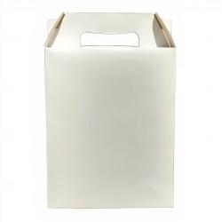 Caixa sacola personalizada papel duplex Branco