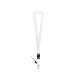Cordão personalizado de pescoço Branco
