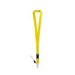 Cordão personalizado de pescoço Amarelo