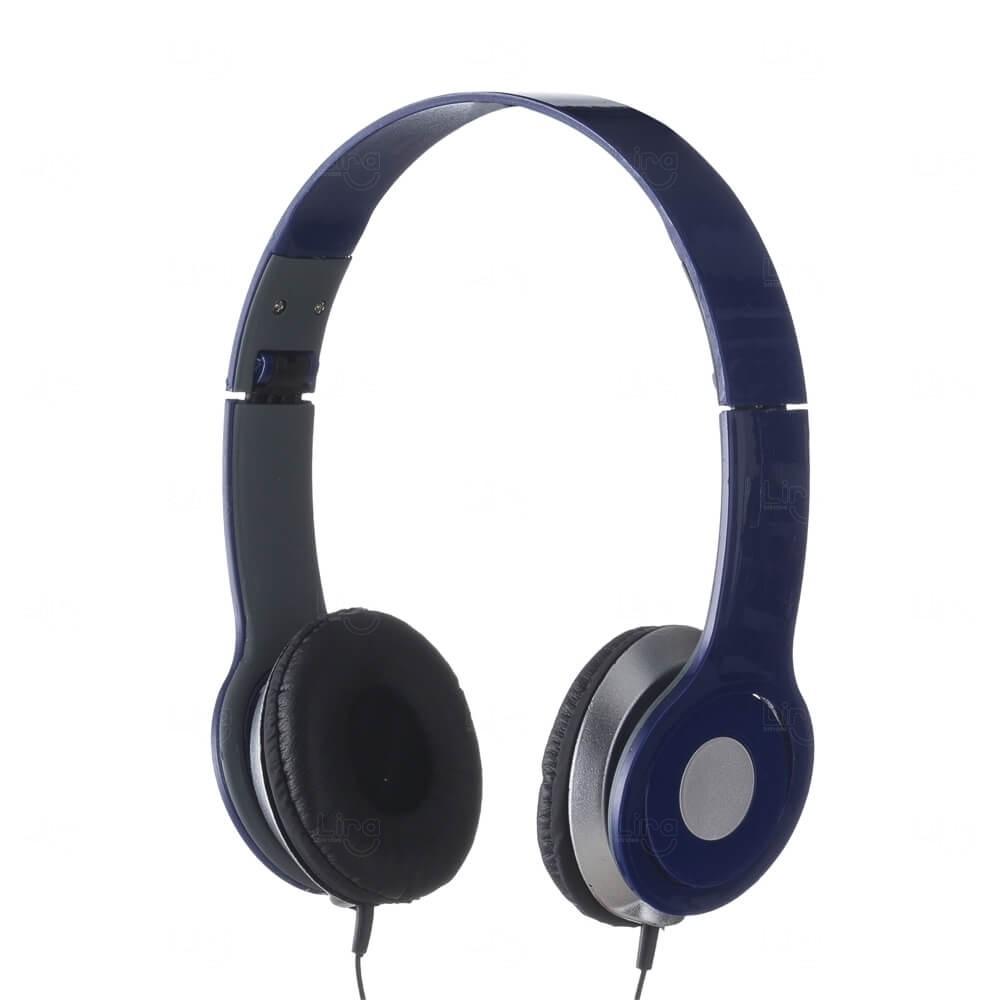 Fone de Ouvido Stereo HD Personalizado Azul Marinho