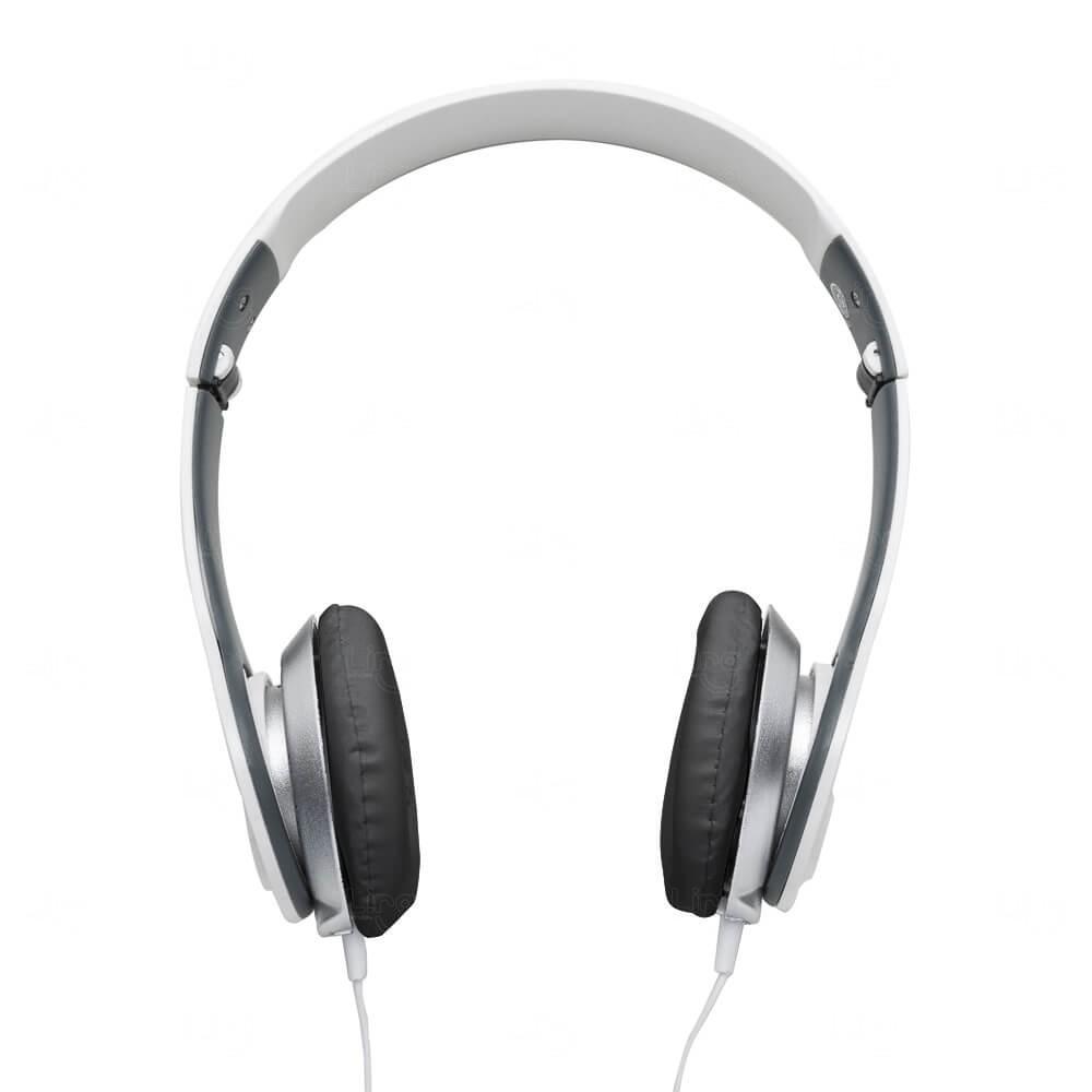 Fone de Ouvido Stereo HD Personalizado Branco