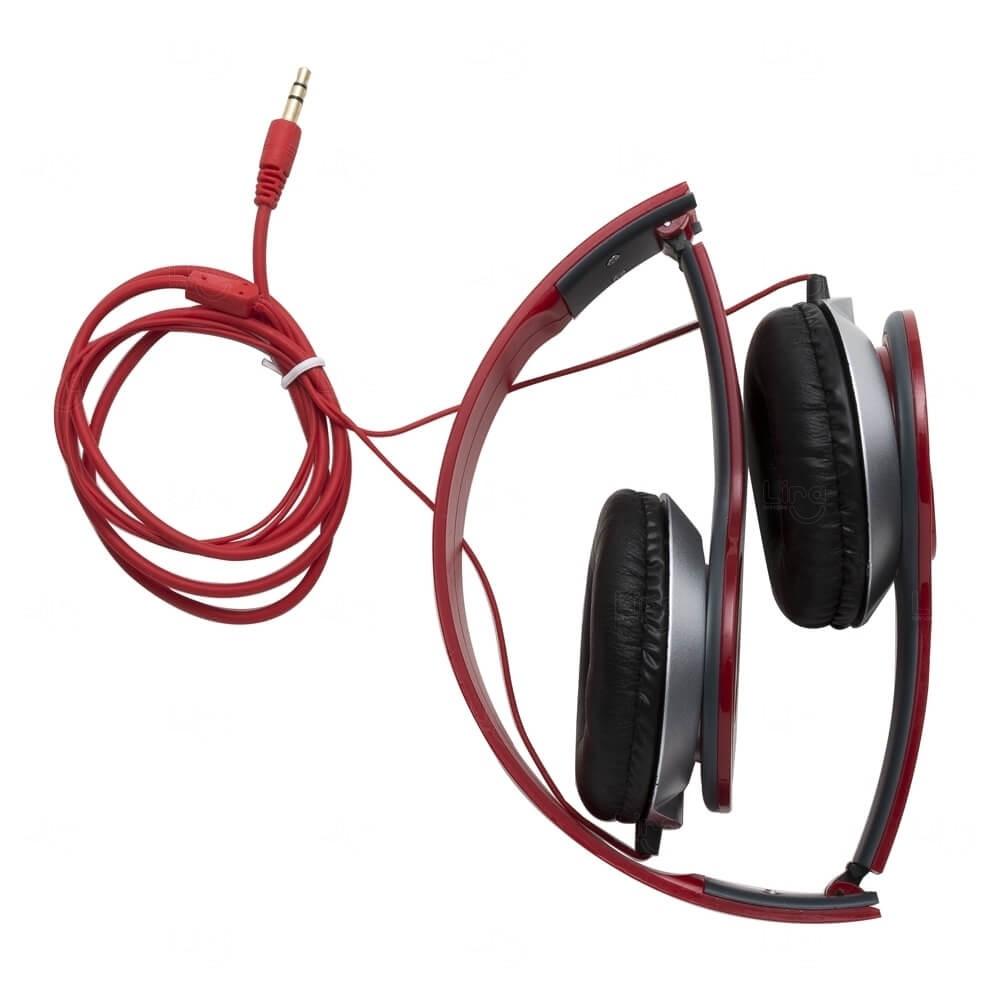 Fone de Ouvido Stereo HD Personalizado Vermelho