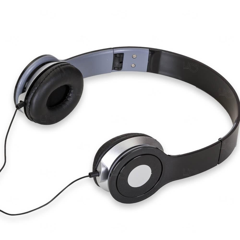Fone de Ouvido Stereo HD Personalizado Preto