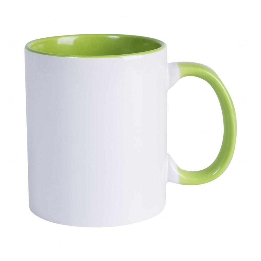 Caneca Personalizada com Interior Colorido - 325 ml Verde Claro