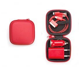 Kit Case 3 Em 1 Vermelho