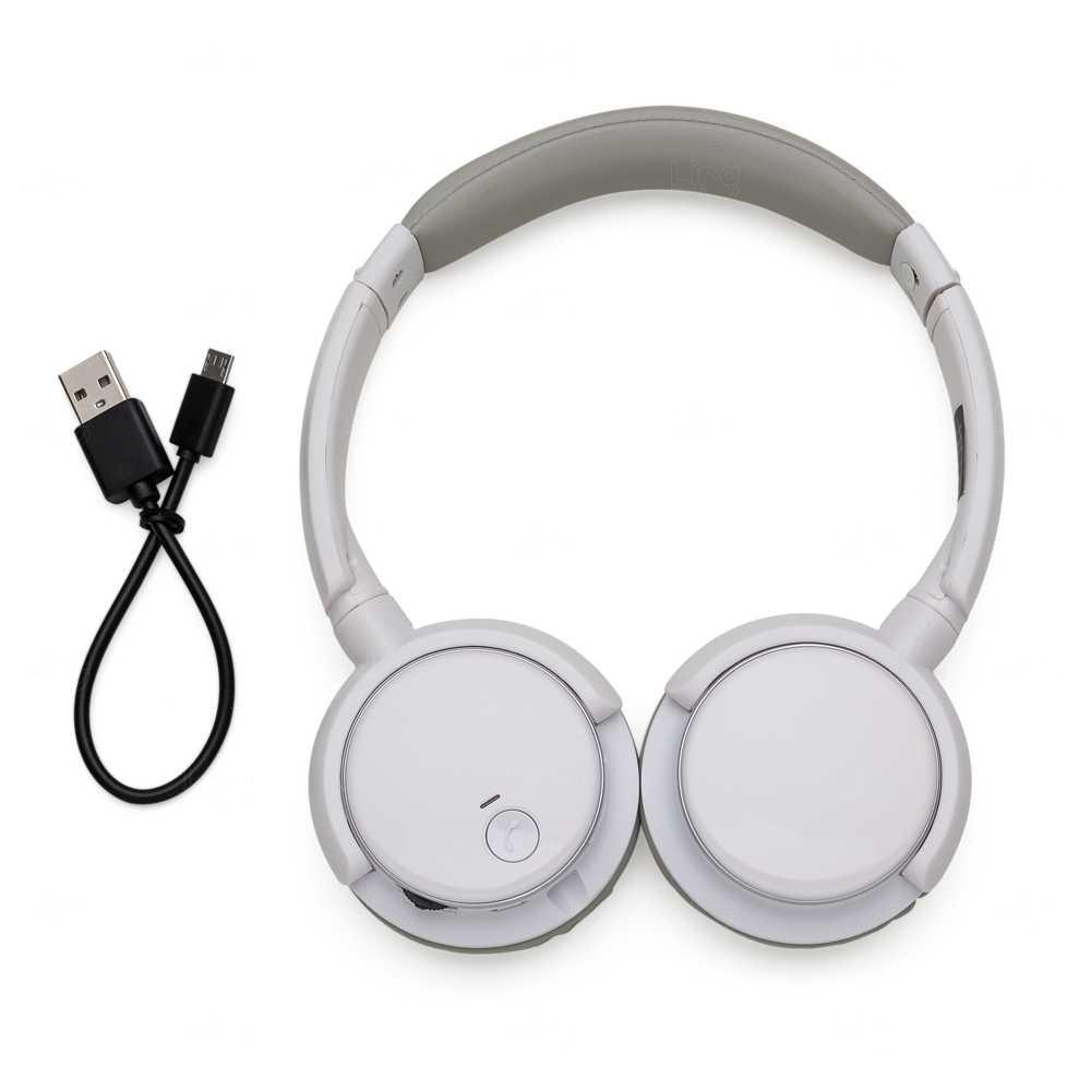 Fone de Ouvido Personalizado Headphone - Bluetooth e P2 Branco