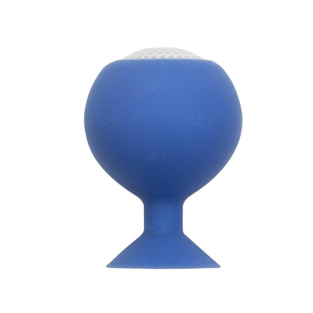 Mini Caixa De Som Personalizada com Ventosa - P2 Azul