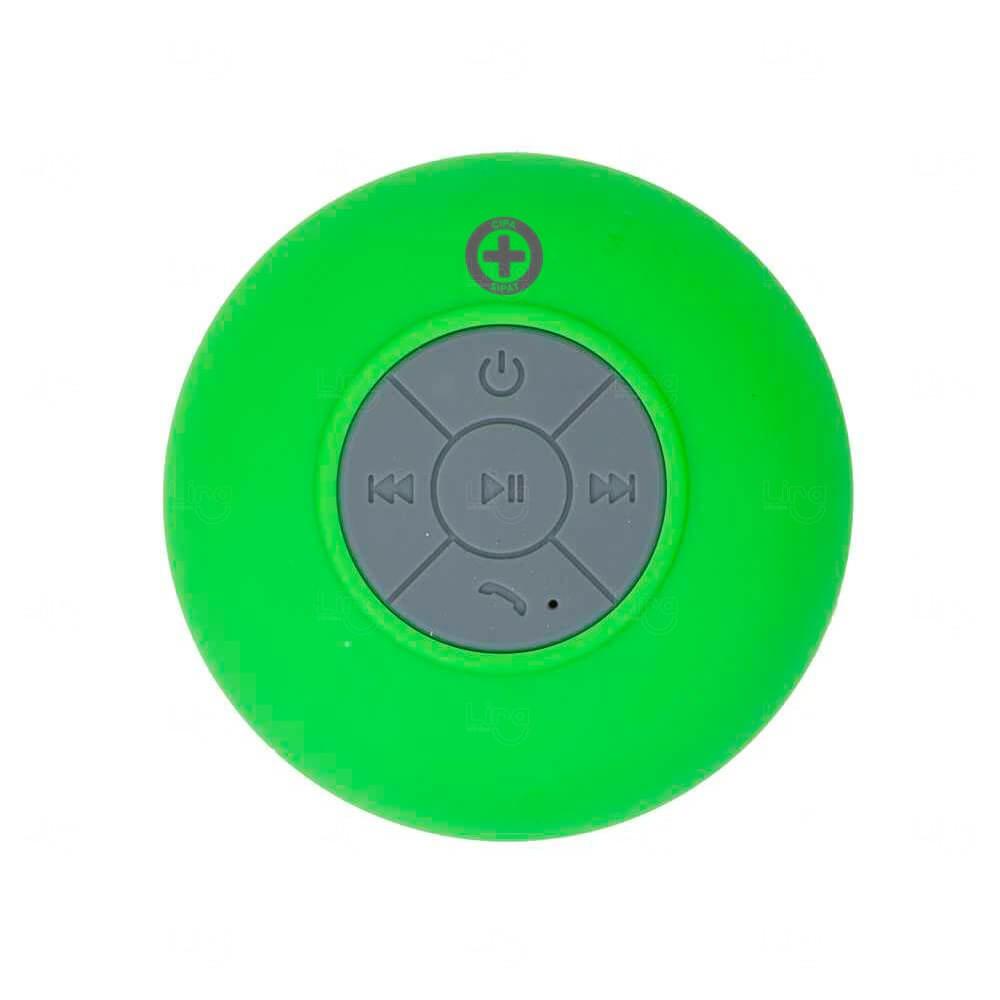Caixinha De Som Personalizado Com Ventosa Verde
