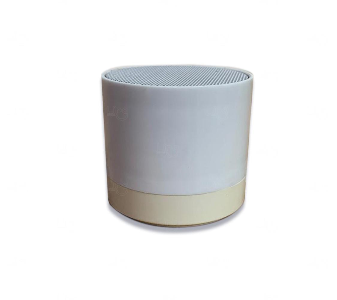 Caixinha De Som C/ Bluetooth Personalizada Branco
