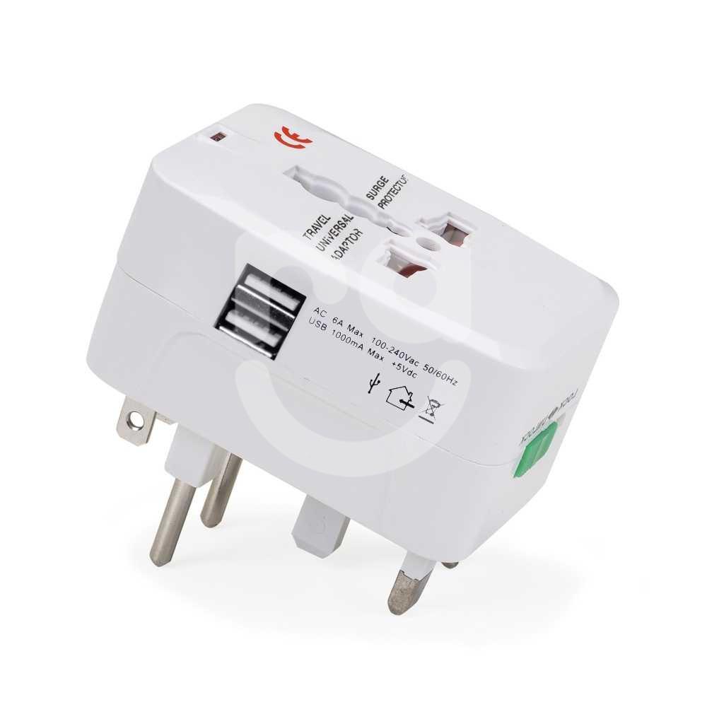 Adaptador De Tomada Universal USB Personalizado Branco