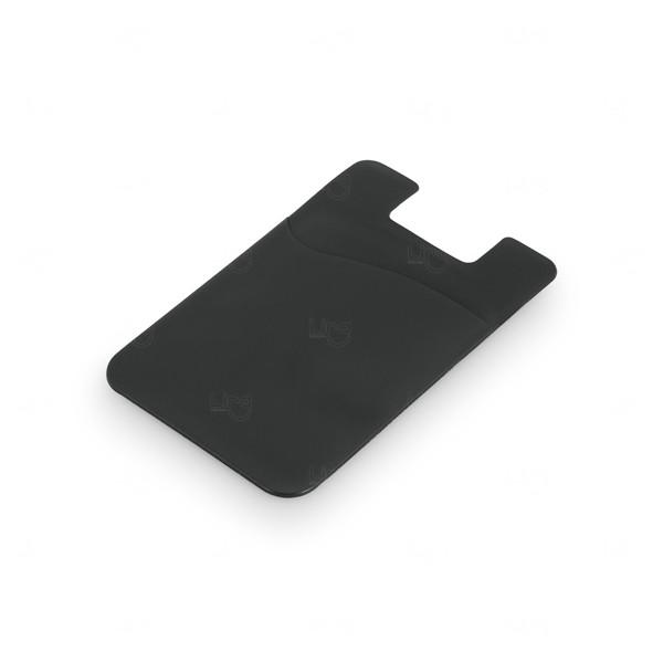 Porta Cartão Personalizado PVC Preto