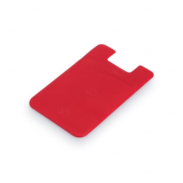 Porta Cartão Personalizado PVC Vermelho