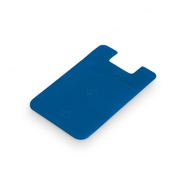 Porta Cartão Personalizado PVC Azul