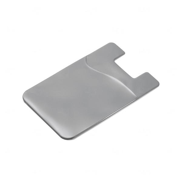 Porta Cartão Personalizado PVC Prata
