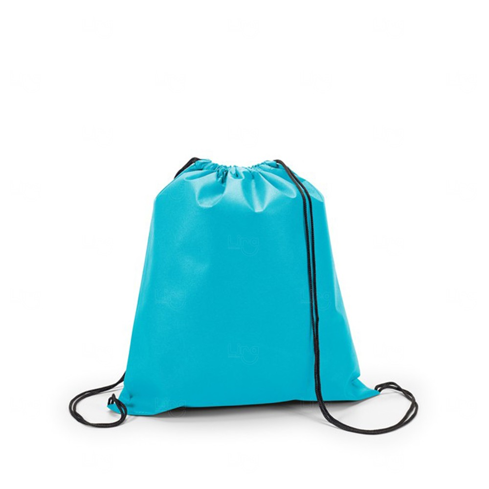 Mochila Saco Personalizada Sacochila Azul Claro