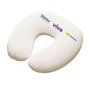 Almofada Pescoço Personalizada Para Viagem Branco