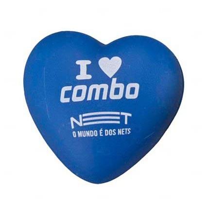 Bola Antistress Personalizada Coração Azul