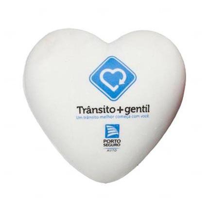 Bola Antistress Personalizada Coração Branco