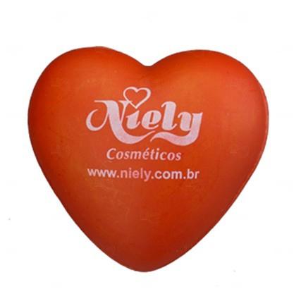 Bola Antistress Personalizada Coração Laranja