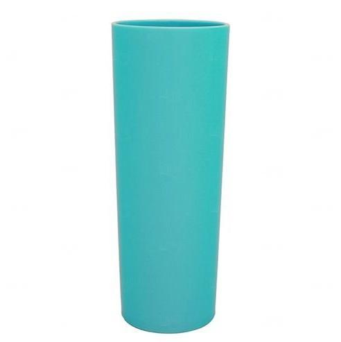 Copo Long Drink Personalizado - 350 ml (Leitoso ou Cristal) Azul Claro