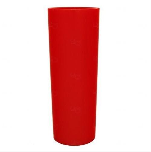 Copo Long Drink Personalizado - 350 ml (Leitoso ou Cristal) Vermelho