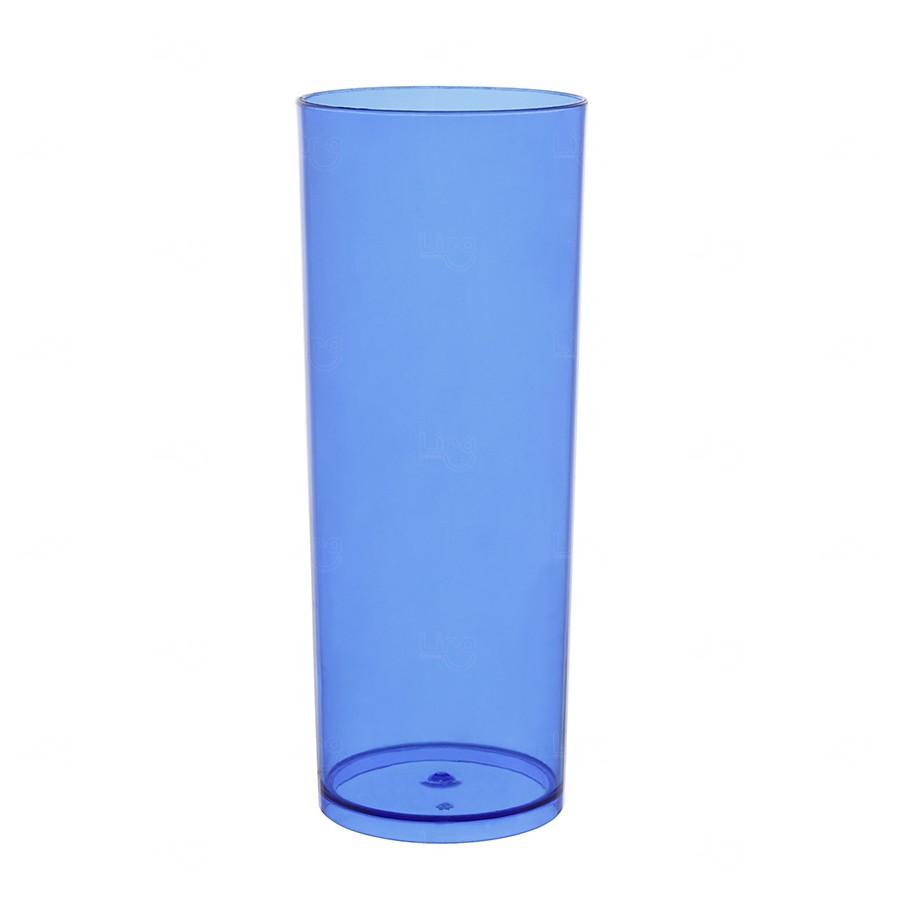 Copo Long Drink Personalizado - 350 ml (Leitoso ou Cristal) Azul